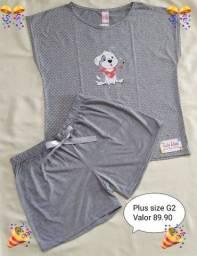 Título do anúncio: Pijama plus size Tecido viscose