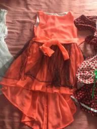 Vestido infantil de 10 a 12 anos