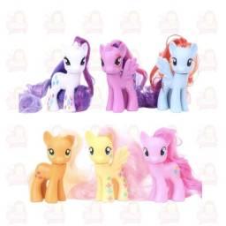 My Little Pony - Kit com 6 personagens - Vinil