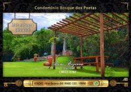 Lotes no Bosque dos Poetas nas metragens 375m², 424m² , 448m², 620m² e 827m² confira