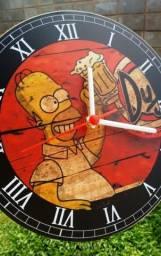 Relógio De Parede Bebidas/vintage/carros/motos Com Pilha