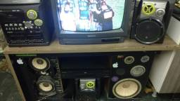 System .tv e dvd e 2 cx acustica