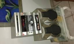 Aparelho de som com 3 cds