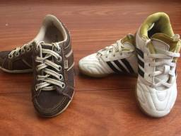 Tênis Adidas e sapato Kea infantil número 26