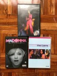 Kit com 3 DVDs Madonna + The Cors + M People