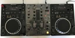 CDJ 350 Pioneer + DJM400 Pioneer + Case | aceito cartão de crédito
