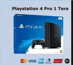Playstation 4 Pro 1 Tera mais Brinde 1 Jogo