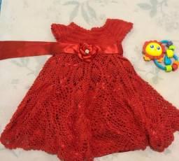 Vestido crochê infantil