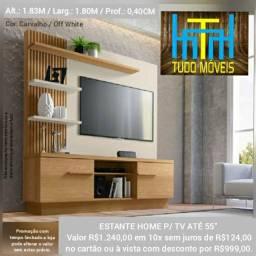 """ESTANTE HOME P/ TV ATÉ 55"""" (montagem grátis)"""