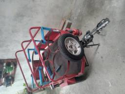 Carretinha motoflex para moto, carregar gás é água