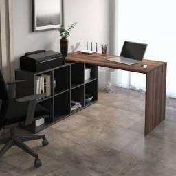 MESA home office - NOVA .R$ 345,00 ( preta/ipê )