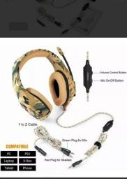 Fone Ouvido Headset Gamer K1b Camuflado Urbano Onikuma