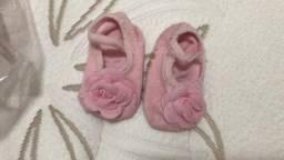 Par de meias sapatilha 0-12 meses bebê