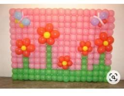 Painel de bolas para festa