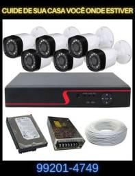 Kit 6 câmeras monitoramento instalado