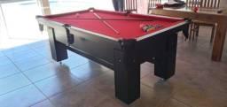 Mesa de Bilhar Charme Preta Tx Tecido Vermelho Modelo FJG8978