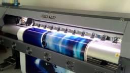 Plotter de impressão signstar dx5 1,80m + Plotter de rec. sensor automático 127cm