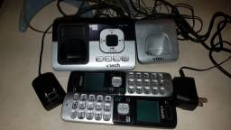 Telefone sem fio com extensão VTech cs6829 full duplex atendimento automático