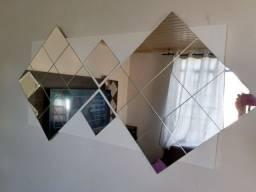 Painel espelhado branco pronto para pendurar na parede