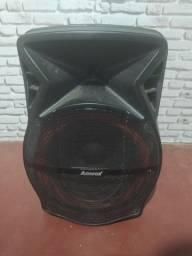 Caixa Amplificada Amvox Recarregável, Bluetooth e Rádio FM
