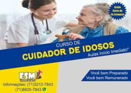 Cuidador de Idosos - Promoção especial Pascoa