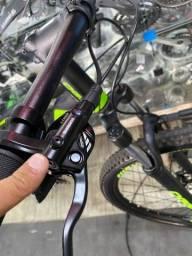 Título do anúncio: Bike mtb oggi hacker com upgrade 1x12 para vender logo