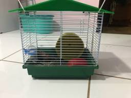 Gaiola para hamster com roda/ bebedouro e comedouro
