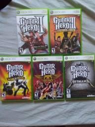 Coleção guitar hero Xbox 360