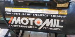 Compressor Profissional Moto Mil 220V 175 litros