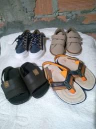 Lote sapatos menino