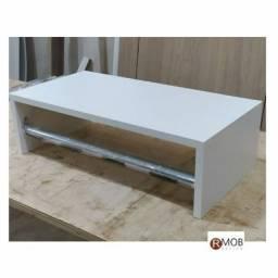 Cabideiro Arara Parede MDF Branco 50cm - RMOB