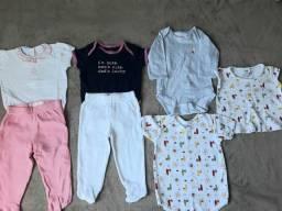Lote roupa bebê menina. 7 peças bem conservadas Apenas R$ 50