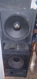 Vendo caixas grande de som + suporte da mesa +aplificador
