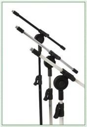 Título do anúncio: Pedestal Profissional Preto ou Cromado para Microfone, com Regulagem de Altura. NOVO