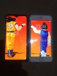 Título do anúncio: iPhone 6 plus 16GB e Motorola one macro 64GB