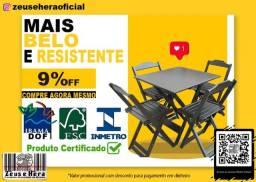 Mesa para Bar, Restaurante, lanchonete e afins - Em Madeira Maciça Certificado Inmetro