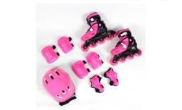 Kit Patins Roller inline com proteção completa