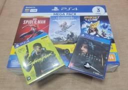 Título do anúncio: Console Playstation 4 Slim 1TB Bundle 5 jogos, Nota Fiscal e Garantia