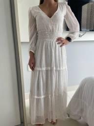 Vestido branco com brilho