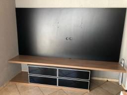 Título do anúncio: Painel grande de tv com rack de 4 gavetas de vidro em ótimo estado.  Mdf Reforçado!