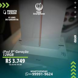 IPAD DA 8 GERAÇÃO COM CAPACIDADE: 128GB - CORES: CINZA, GOLD OU PRATA / LACRADO