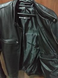Linda jaqueta de couro bovino legítimo
