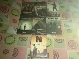 Boxes DVDs The Walking Dead (1a a 6a temporadas) e Fear The Walking Dead - 1a temporada
