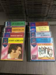 CDS coleção com 8 CDS originais Sucessos do passado