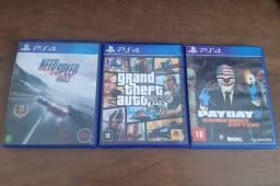 3 jogos PlayStation4 usados