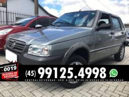 Fiat Uno mille fire economy way 1.0 cinza - 2010