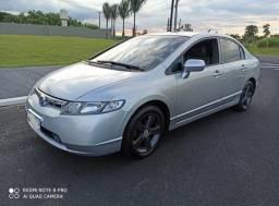 Honda Civic LXS 2008 flex automático IPVA pago - 2008