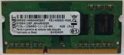 Memória RAM 4GB DDR3 1600Mhz Smart (Notebook)