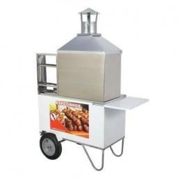 Espetinho churrasco carrinho excelente para churrasco e vendas