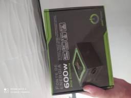 Fonte gamer atx 600w alto desempenho